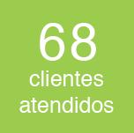 68 clientes atendidos
