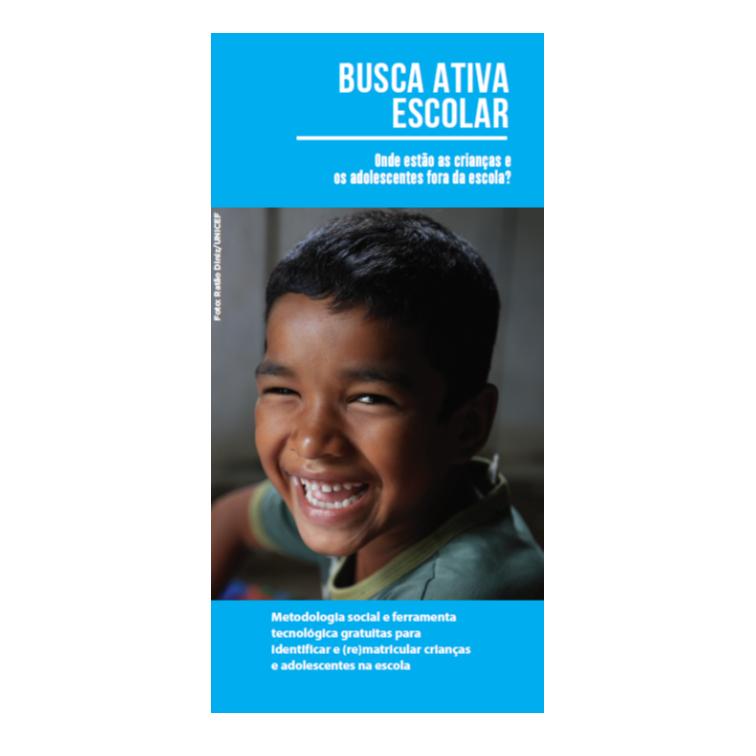 Unicef Busca Ativa Escolar - folder produzido pela Cross Content