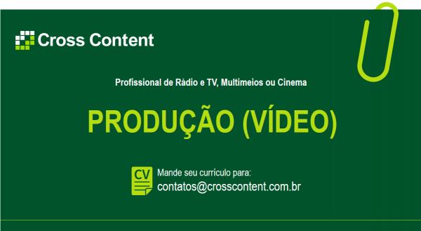 Vaga - produção de vídeo