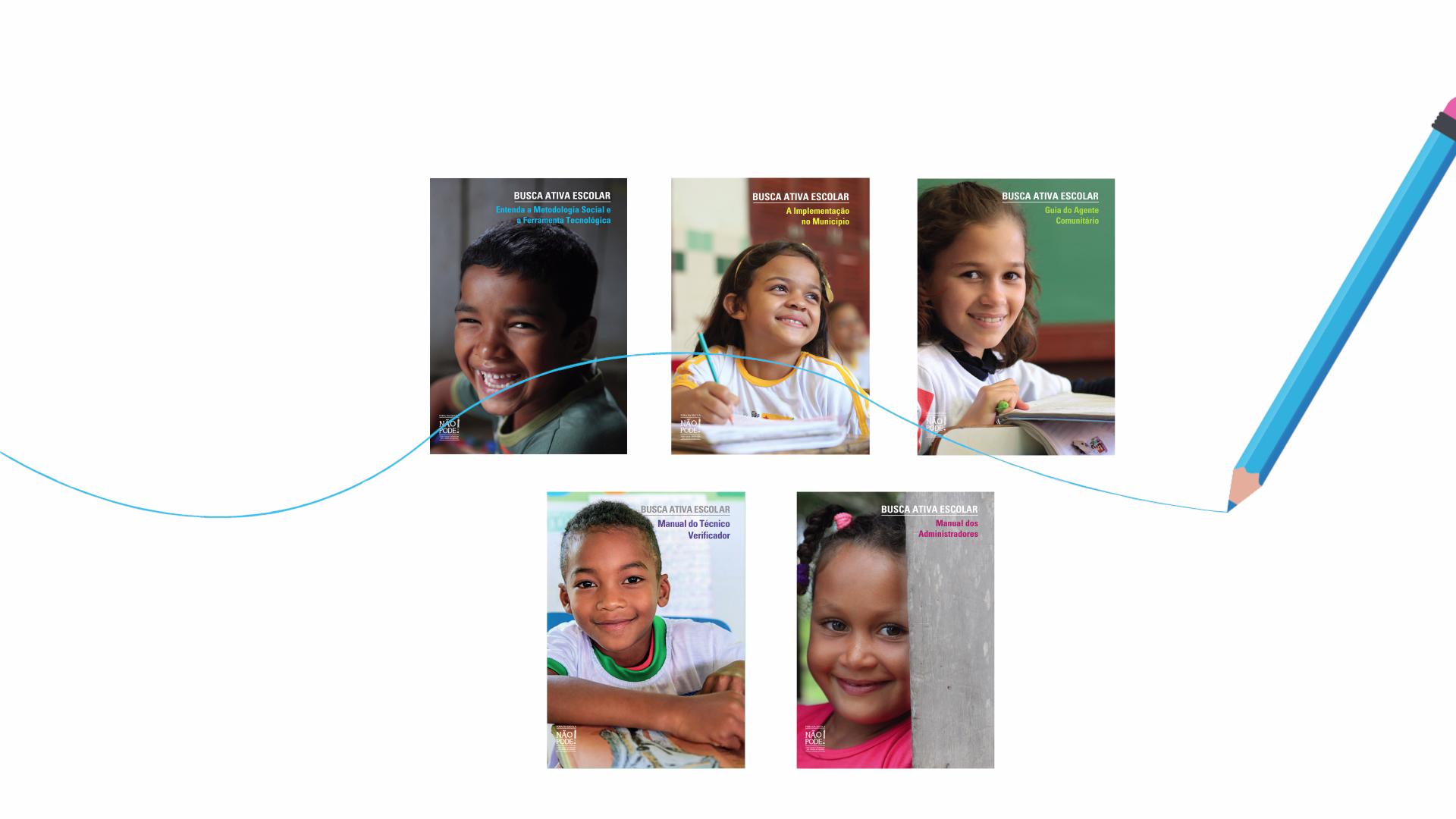 Busca Ativa Escolar - publicações produzidas pela Cross Content