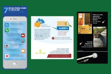 Infográficos produzidos pela Cross Content - exemplos