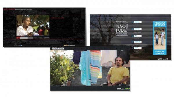 Imagens de webdocumentários produzidos pela Cross Content