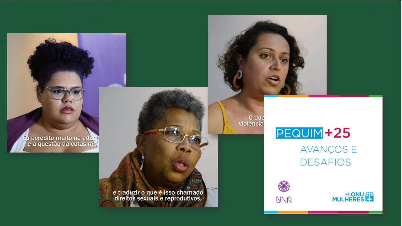 Imagens da série de vídeos produzida pela Cross Content para a ONU Mulheres