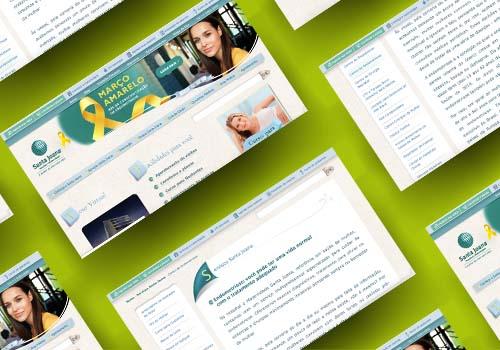 Produção de conteúdo da Cross Content para o Hospital e Maternidade Santa Joana